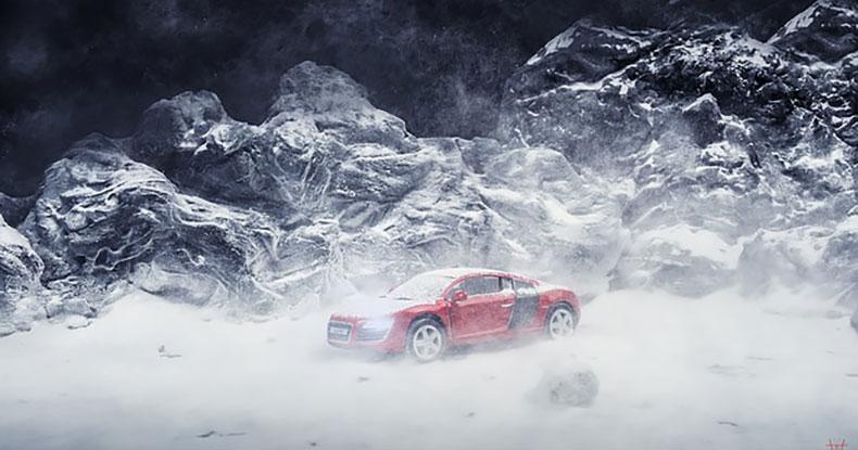 guida sicura su ghiaccio